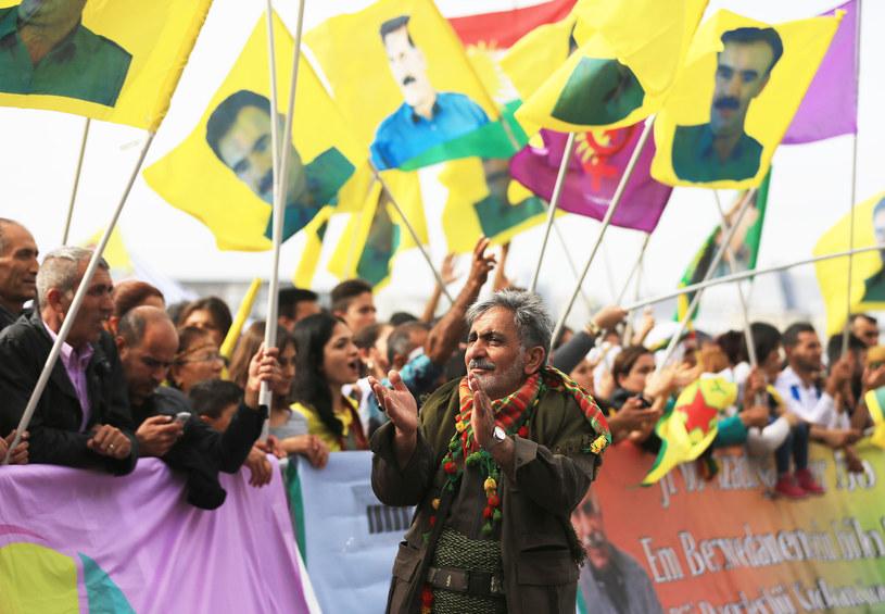 Około 30 tysięcy Kurdów wyszło na ulice Kolonii /Oliver Berg / DPA / /AFP