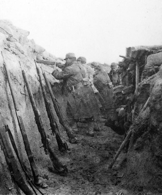 Okopy z czasów pierwszej wojny światowej / STR   /AFP