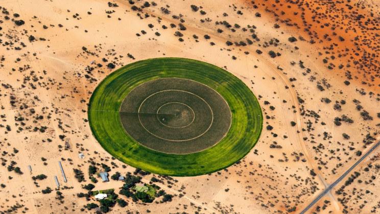 Okrągły ogród na Saharze /materiały prasowe