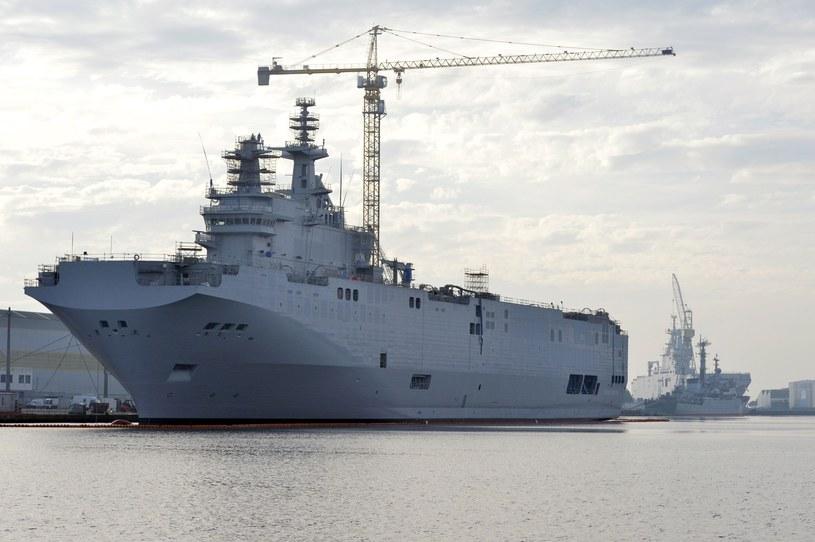 Okręt desantowo-śmigłowcowy klasy Mistral /GEORGES GOBET /East News