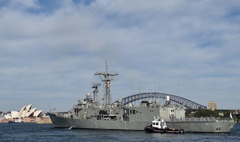 Okręt wojenny HMAS Melbourne /AFP