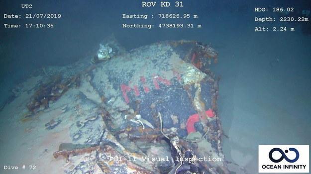 Okręt zaginął w 1968 roku /MARINE NATIONALE /PAP/EPA