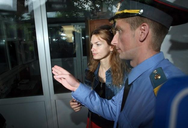 Oksana Poczobut, żona Andrzeja Poczobuta, działacza Związku Polaków na Białorusi i niezależnego dziennikarza (zdjęcie z lipca 2011) /TATYANA ZENKOVICH  /PAP/EPA