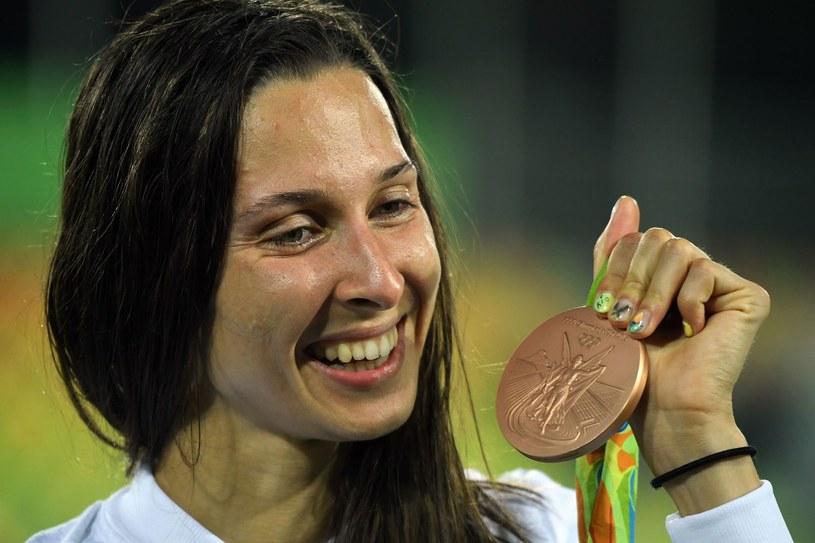 Oktawia Nowacka z medalem igrzysk w Rio /AFP