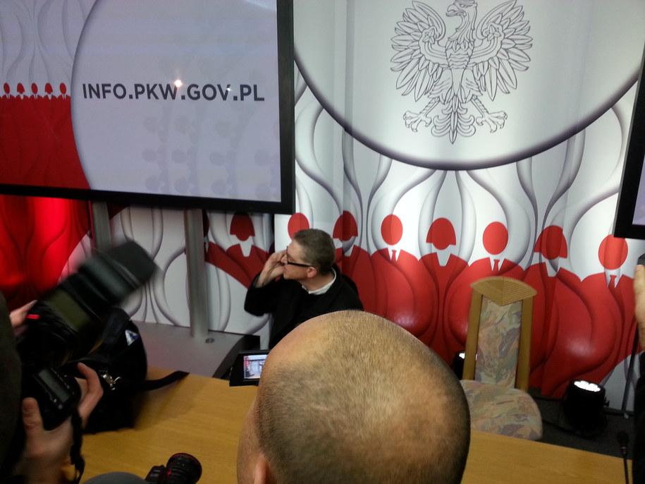 Okupcja siedziby Państwowej Komisji Wyborczej /Paweł Balinowski /RMF FM