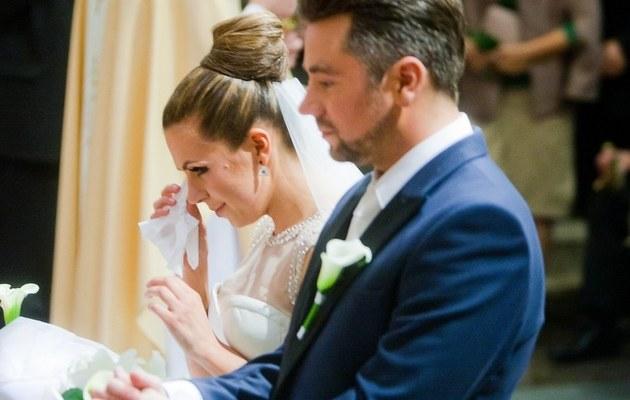 Ola i Kuba podczas ślubu /- /East News
