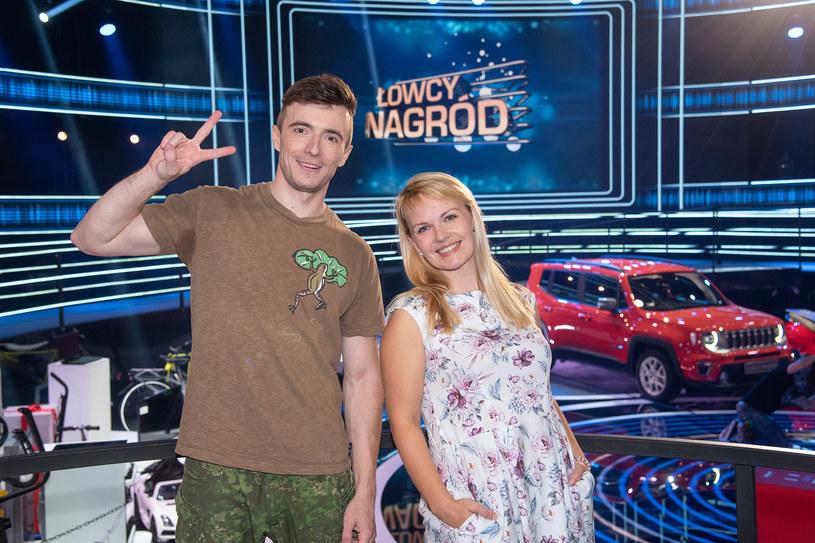 Ola i Tomasz wystąpili w 7. odcinku Łowców Nagród /Super Polsat