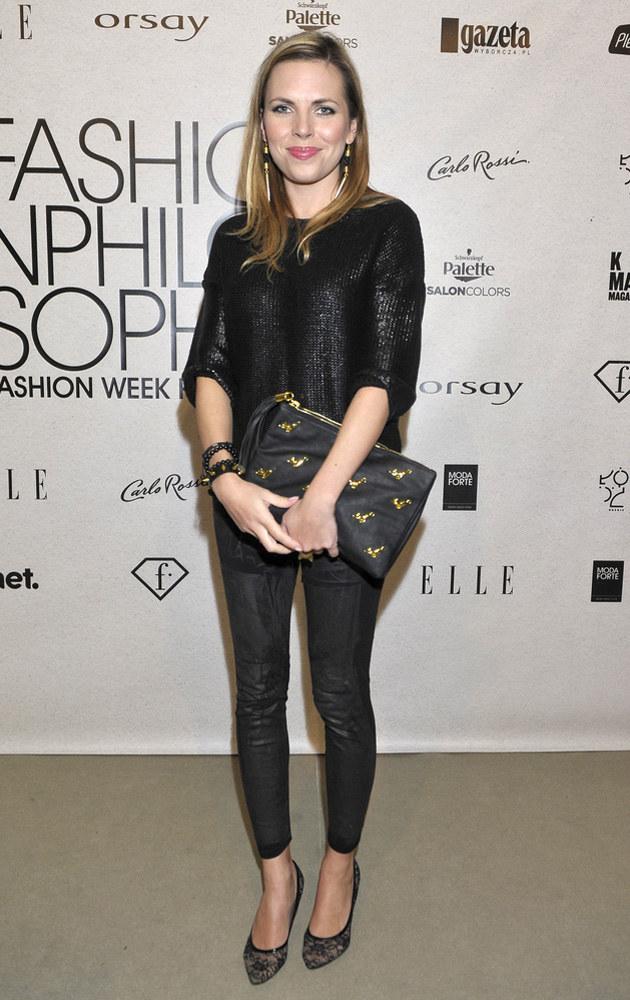 Ola Kwaśniewska na Fashion Week /AKPA