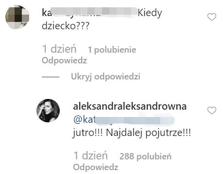 Ola Kwaśniewska odpowiedziała na komentarz pod zdjęciem na Instagramie /Instagram