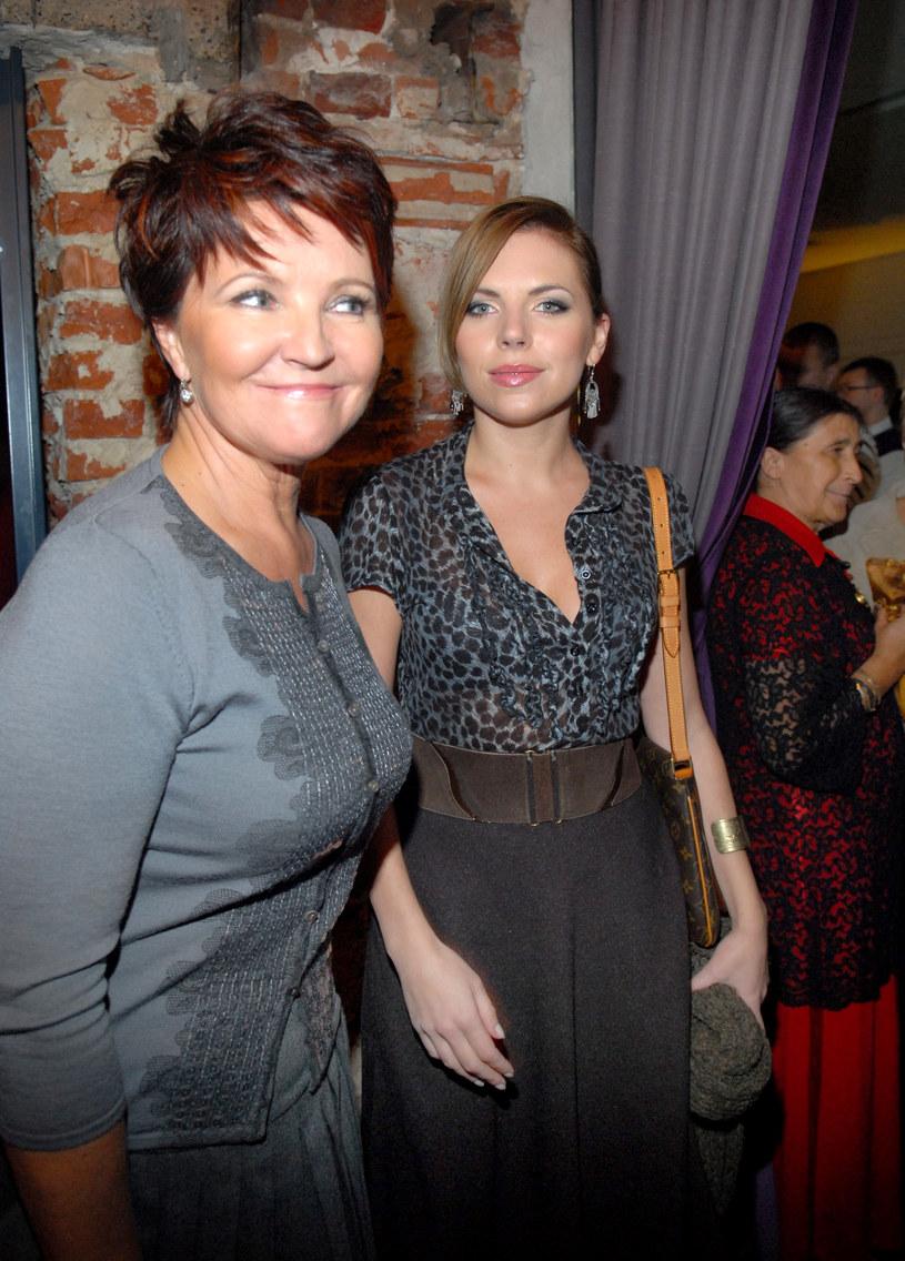 Ola Kwaśniewska z mamą Jolantą /Andras Szilagyi