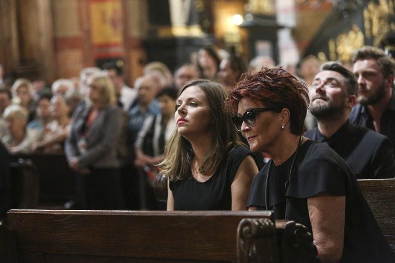Ola Kwaśniewska z mamą, Kuba Badach i Sławek Uniatowski /Zawrzel Beata /Reporter