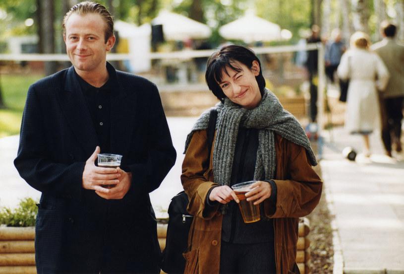 Olaf Lubaszenko i Katarzyna Groniec w 2001 roku /Żyburtowicz /AKPA