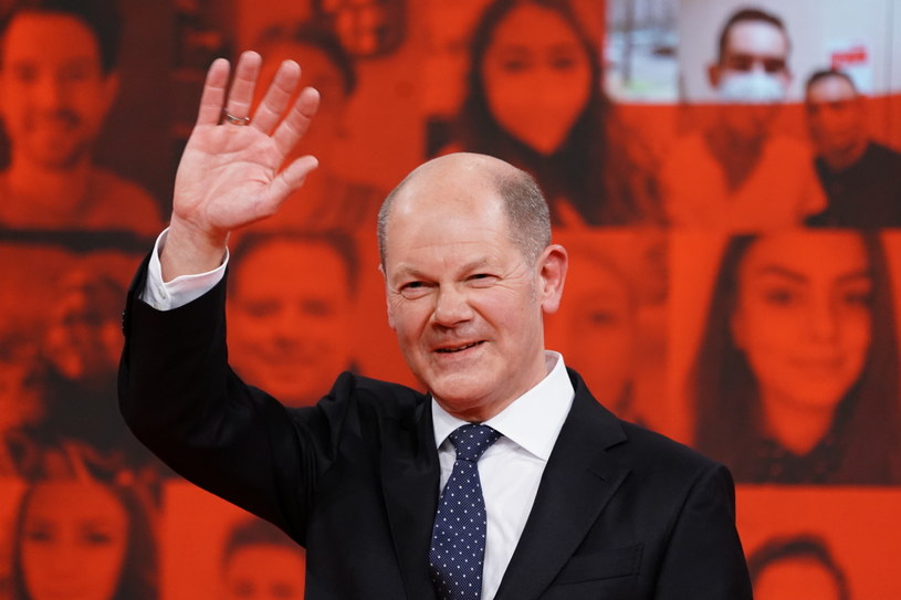 Olaf Scholz - kandydat SPD na kanclerza Niemiec /CLEMENS BILAN / POOL /PAP/EPA