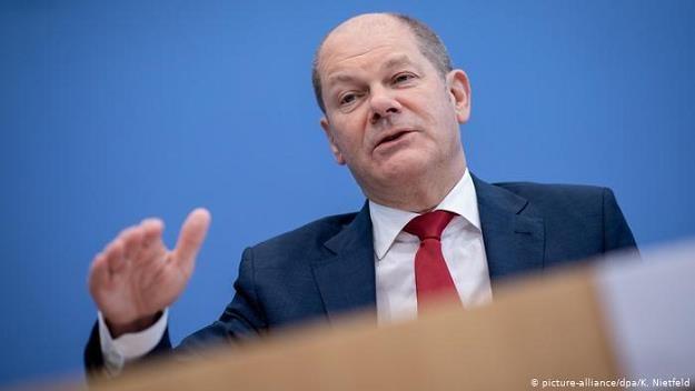 Olaf Scholz, niemiecki minister finansów /Deutsche Welle