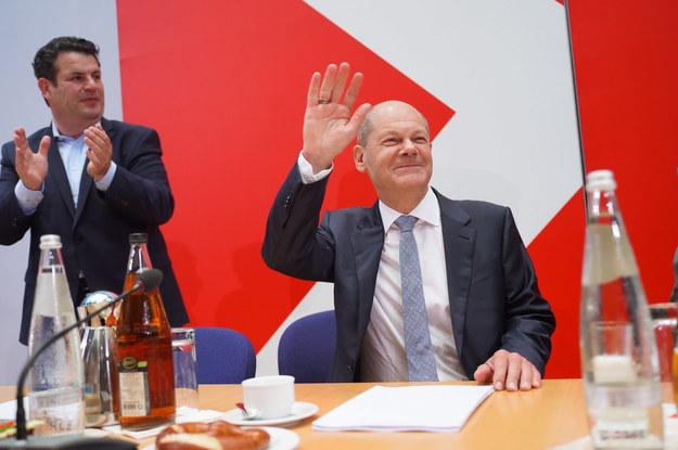Olaf Sholtz /PAP/EPA/JOERG CARSTENSEN / POOL /PAP