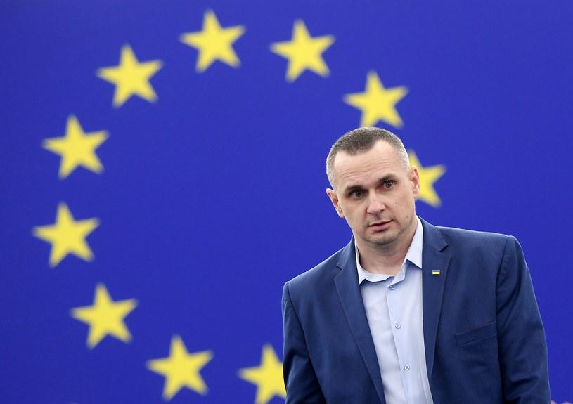 Ołeh Sencow w Parlamencie Europejskim /FREDERICK FLORIN /AFP