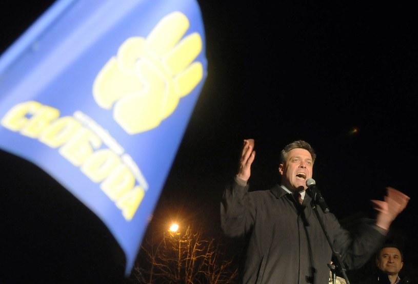 Ołeh Tiachnybok, przywódca Swobody /AFP