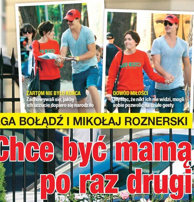 Olga Bołądz i Mikołaj Roznerski /Na żywo