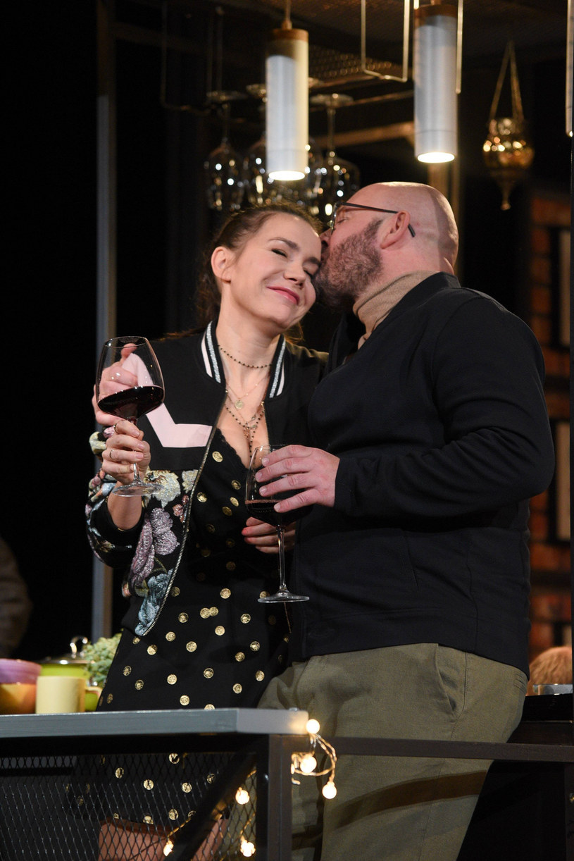 Olga Bołądź podczas spektaklu w Teatrze Buffo /Tricolors /East News