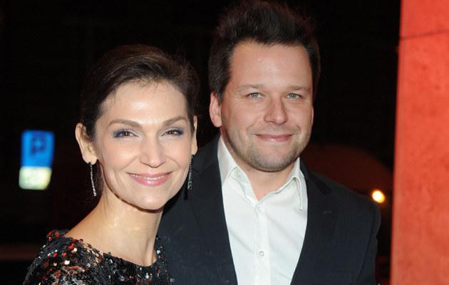 Olga Bończyk i Rafał Krauze na benefisie /Piotr Andrzejczak /MWMedia