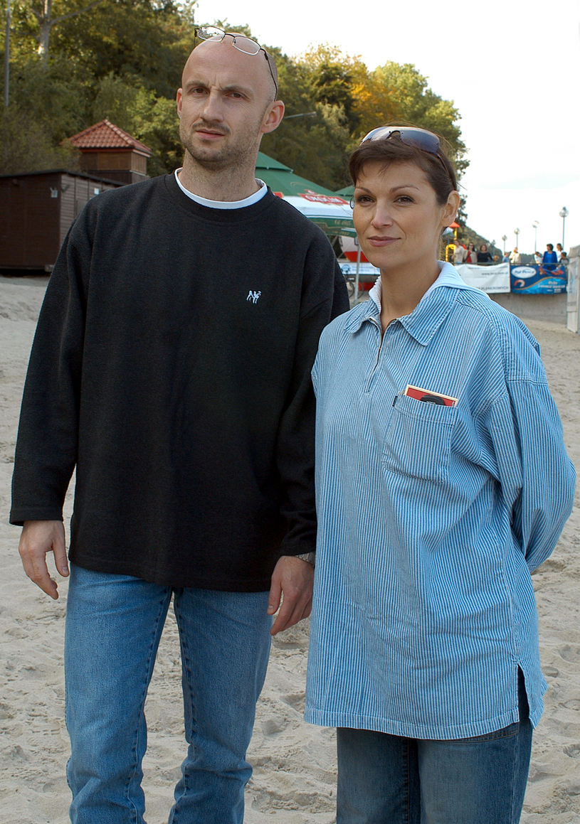 Olga Bończyk z drugim mężem, Tomaszek Gorazdowskim /Mikulski /AKPA