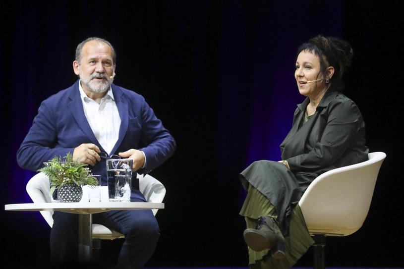 Olga Tokarczuk i prof. Michał Paweł Markowski, fot.Beata Zawrzel/REPORTER /East News