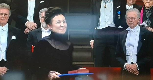 Olga Tokarczuk odbiera Nobla /RMF FM