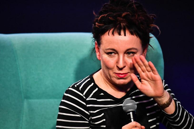 Olga Tokarczuk podczas spotkania z czytelnikami /Andrzej Lange /PAP