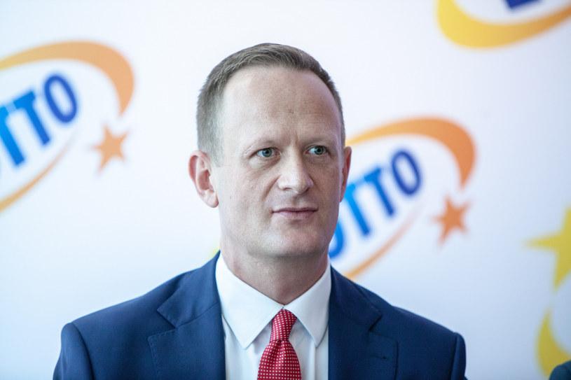 Olgierd Cieślik, prezes Totalizatora Sportowego. /Grzegorz Banaszak /Reporter