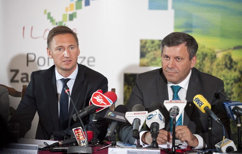 Olgierd Geblewicz (L) oraz  Janusz Piechociński /Tomasz Murański  /PAP