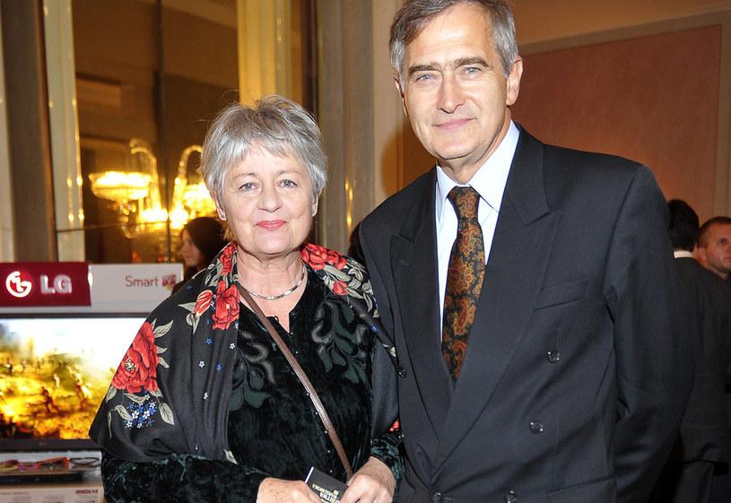 Olgierd Łukaszewicz z żoną /Kurnikowski /AKPA