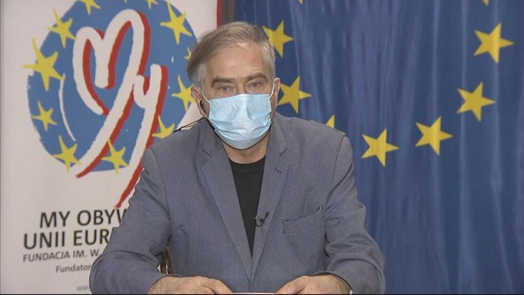 Olgierd Łukaszewicz: Zgłoszę się po drugą dawkę szczepionki, należy mi się ona /Polsat News