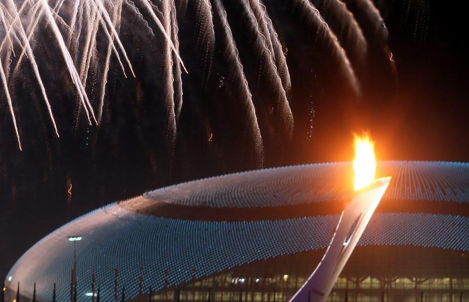 Olimpijski znicz w Soczi /SERGEY ILNITSKY /PAP/EPA