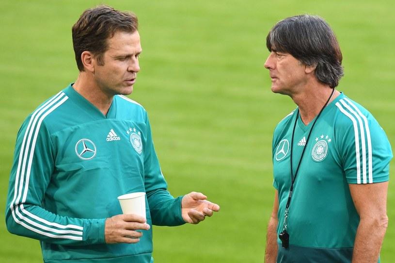 Oliver Bierhoff i Joachim Loew /AFP