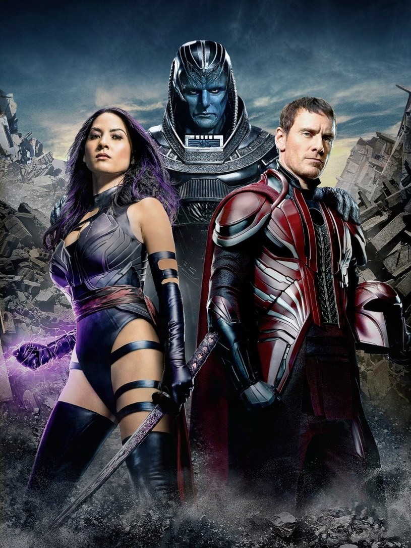 "Olivia Munn, Oscar Isaac i Michael Fassbender w filmie ""X-Men: Apocalypse"" /Capital Pictures /East News"