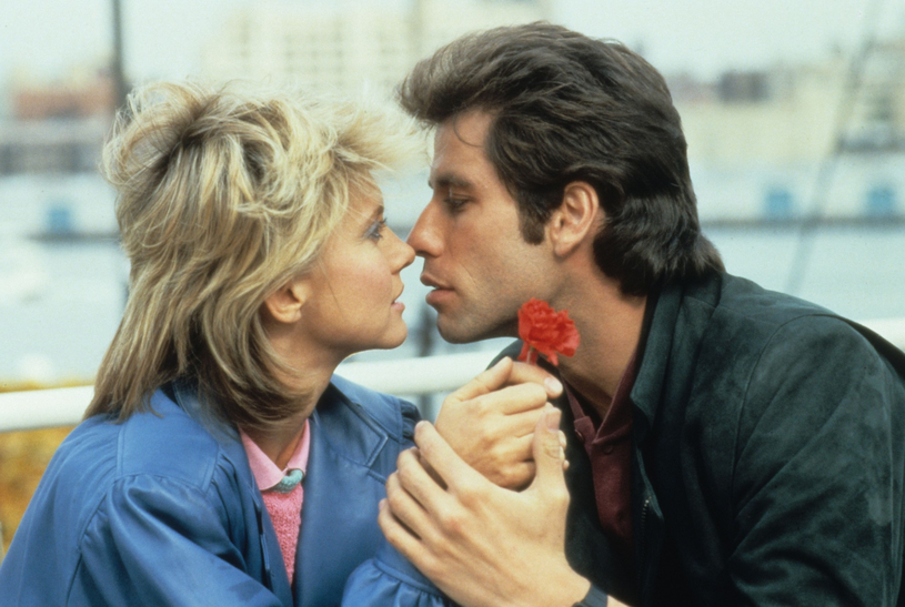 "Olivia Newton-John i John Travolta w słynnym ""Grease"" /East News"