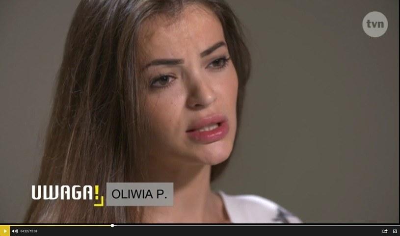 """Oliwia P. w programie TVN """"Uwaga"""" /UWAGA! TVN /materiał zewnętrzny"""