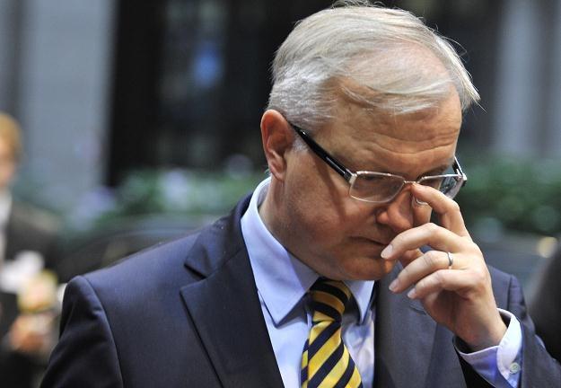 Olli Rehn,  komisarz UE ds. gospodarczych i walutowych /AFP