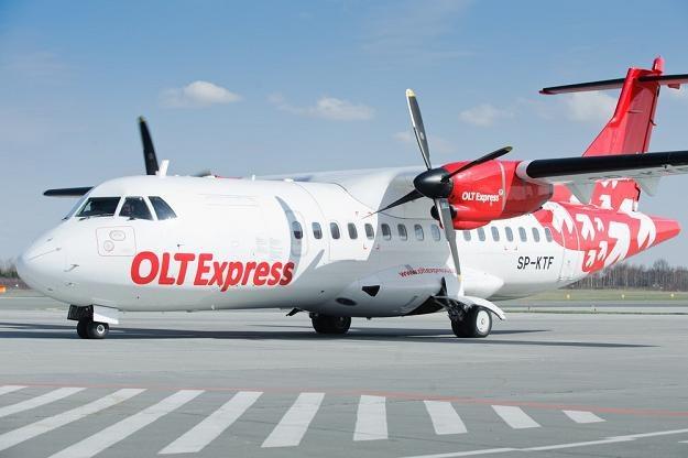 OLT Express, samolot ATR 42-320. Fot. Łukasz Szeląg /Reporter