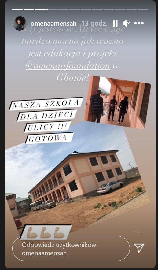 Omenaa Mensah na InstaStory pokazała zdjęcie szkoły w Ghanie /Instagram/omenaamensah /Instagram