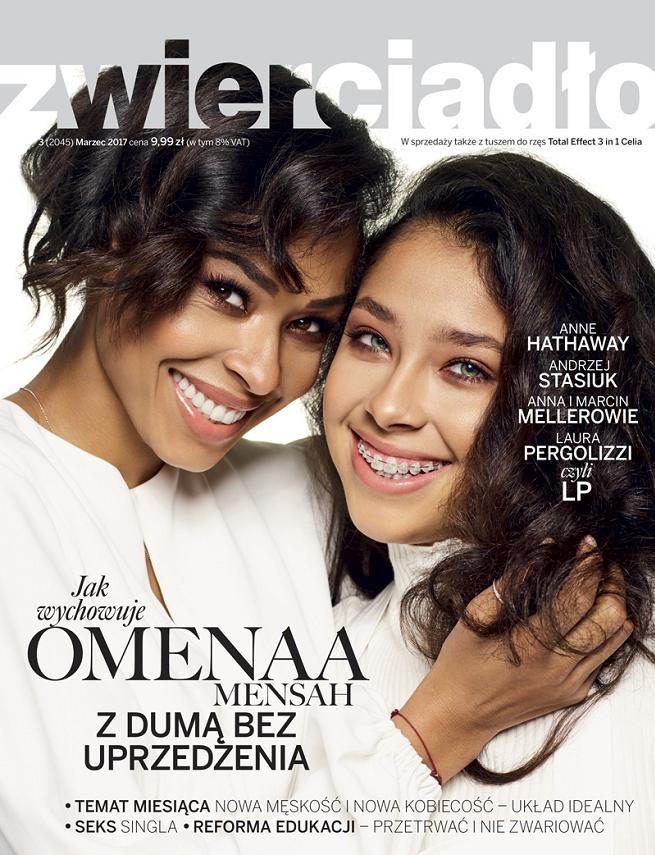 """Omenaa Mensah z córką na okładce """"Zwierciadła"""" /materiały prasowe"""
