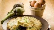 Omlet estragonowy z karczochami
