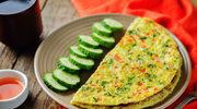 Omlet z natką, kolendrą i koperkiem