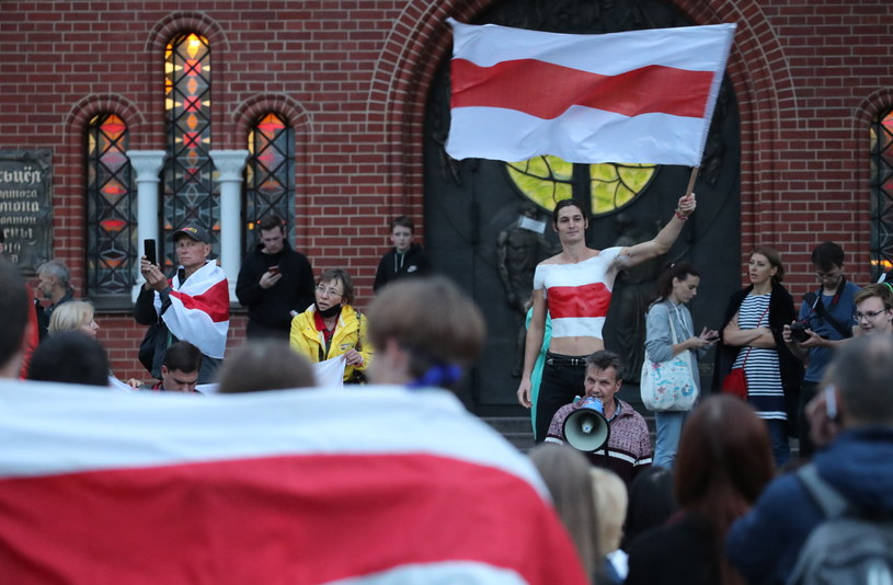 OMON rozpędził demonstrację w centrum Mińska /TATYANA ZENKOVICH  /PAP/EPA