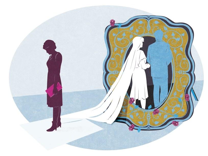 Ona brała ślub, ja rozwód. Nie mogłam słuchać, jak mówi o swoim szczęściu  /rys. Marianna Sztyma /Twój Styl