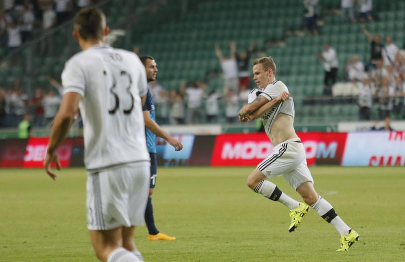 Ondrej Duda cieszy się po golu z FC Botosani /Leszek Szymański /PAP