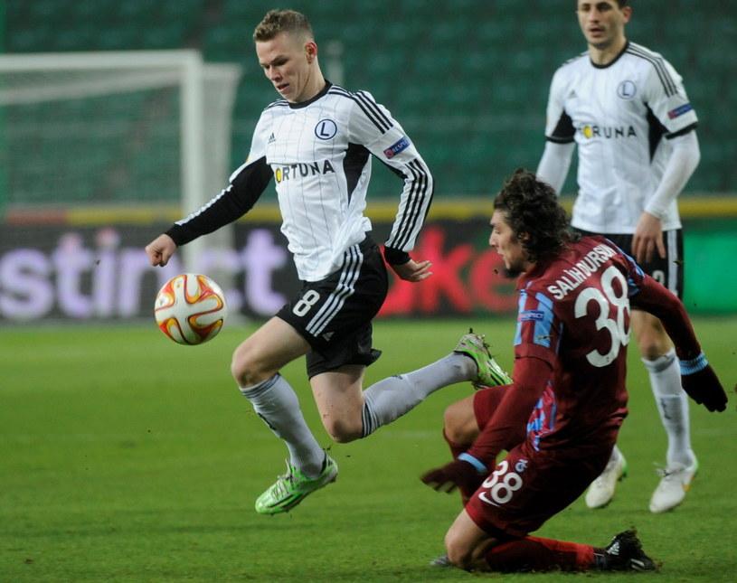 Ondrej Duda w meczu z Trabzonsporem /Fot. Bartłomiej Zborowski /PAP