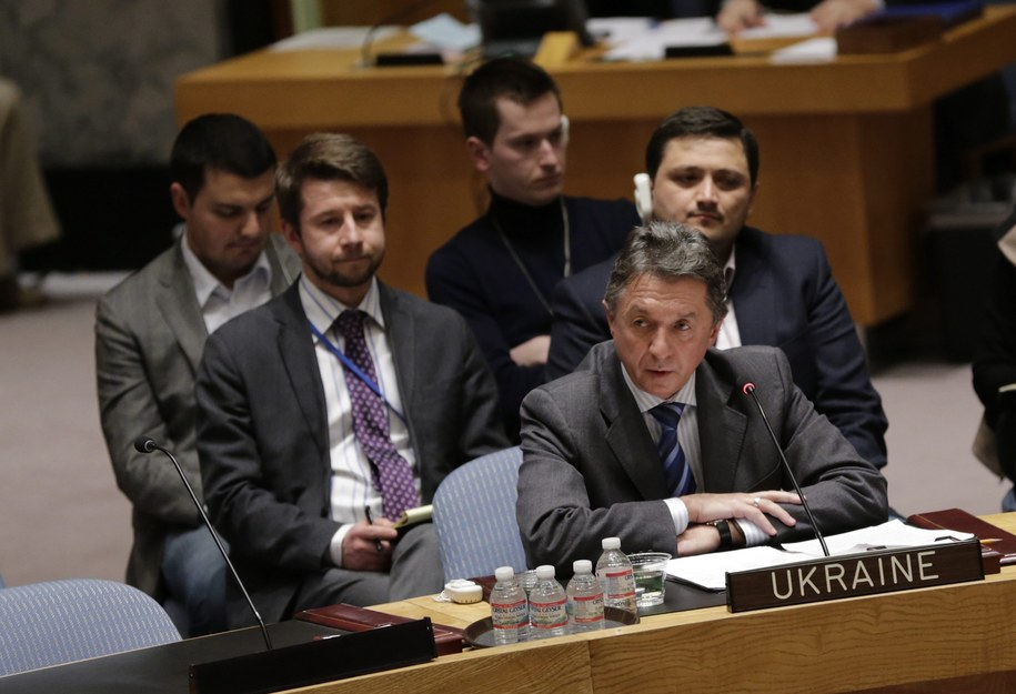 ONZ ambasador Ukrainy przy ONZ Jurij Sergejew /Peter Foley /PAP/EPA