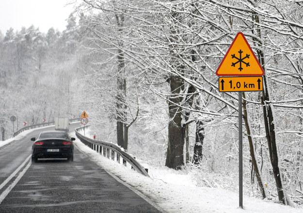 Opady śniegu w Cisowej /Darek Delmanowicz /PAP