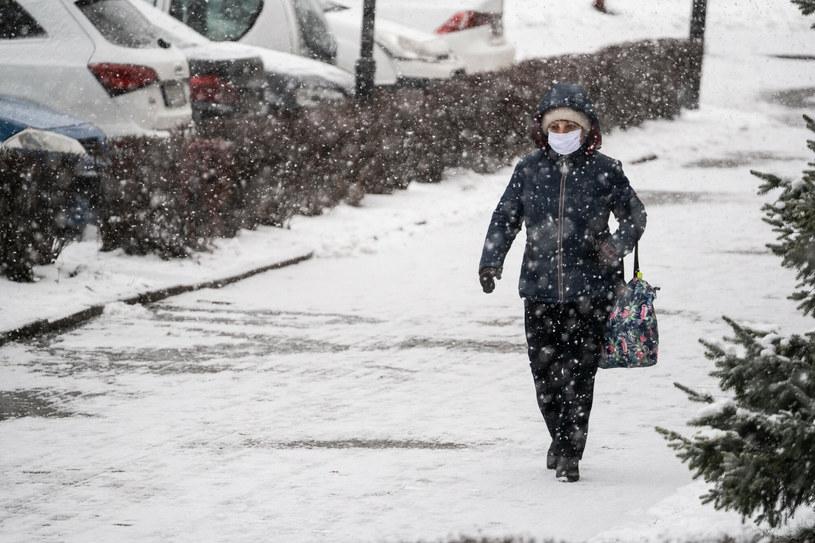 Opady śniegu; zdj. ilustracyjne /Jakub Wosik  /Reporter